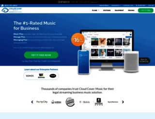 cloudcovermusic.com screenshot