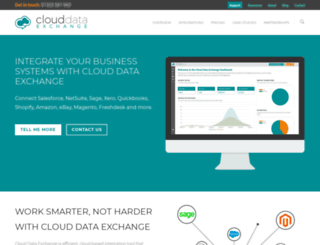 clouddataexchange.com screenshot