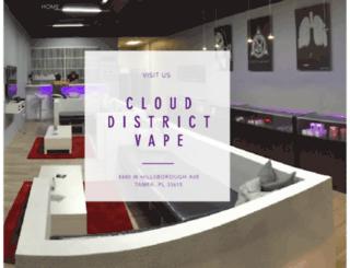 clouddistrictvape.com screenshot