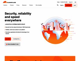 cloudflare.com screenshot