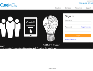 cloudg.curemd.com screenshot