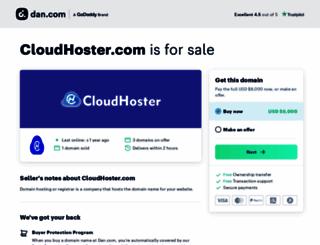 cloudhoster.com screenshot