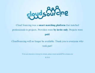 cloudsourcing.com screenshot
