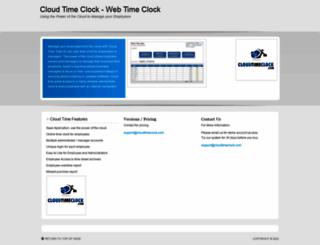 cloudtimeclock.com screenshot