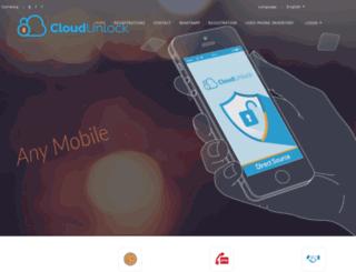 cloudunlock.com screenshot
