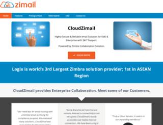 cloudzimail.com screenshot
