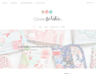 cloverandviolet.com screenshot
