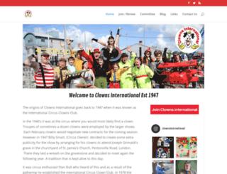 clowns-international.com screenshot