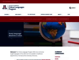 clp.arizona.edu screenshot