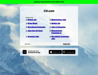 clri.com screenshot