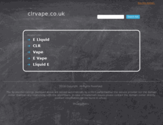 clrvape.co.uk screenshot