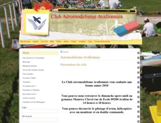 club-aermodelisme-avallonnais.e-monsite.com screenshot