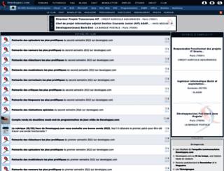 club.developpez.com screenshot