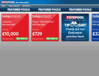 club.totesport.com screenshot