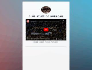 clubahuracan.com.ar screenshot