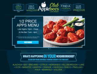 clubapplebees.com screenshot