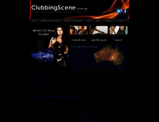 clubbingscene.com.au screenshot