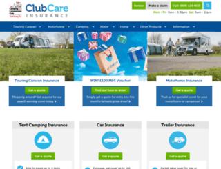 clubcareinsurance.com screenshot