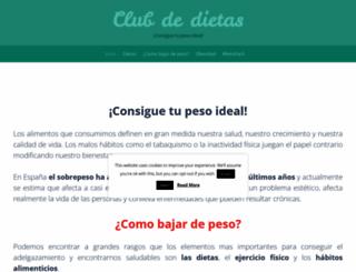 clubdedietas.com screenshot