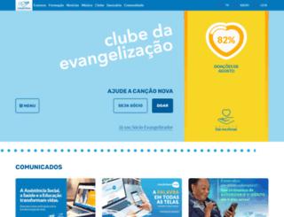 clube.cancaonova.com screenshot