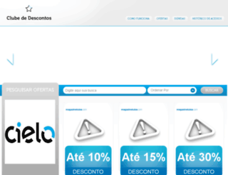 clubededescontos.cielofidelidade.com.br screenshot