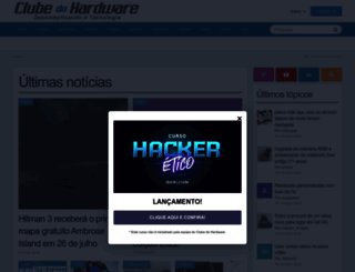 clubedohardware.com.br screenshot