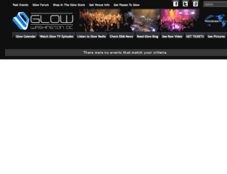 clubglow.wantickets.com screenshot