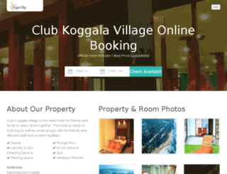clubkoggalavillage.bookings.lk screenshot