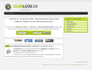 clublose.de screenshot