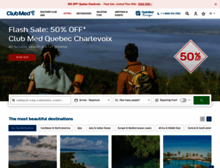 clubmed.ca screenshot