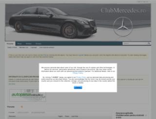 clubmercedes.ro screenshot