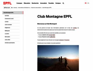clubmontagne.epfl.ch screenshot