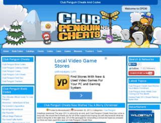 clubpenguincheatsnow.com screenshot