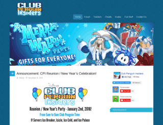 clubpenguininsiders.com screenshot