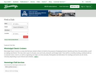 clubs.hemmings.com screenshot
