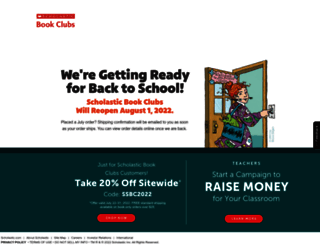 clubs.scholastic.com screenshot