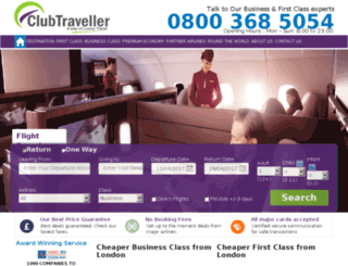 clubtraveller.co.uk screenshot