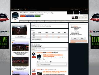 clubxcchampionship.runnerspace.com screenshot
