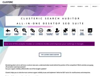 clusteric.com screenshot