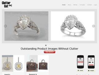 cluttercut.com screenshot