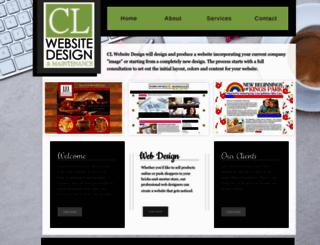 clwebsitedesign.com screenshot