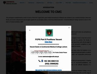 cmclhr.edu.pk screenshot