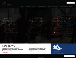cme-mec.ca screenshot