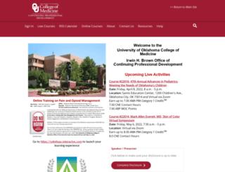 cme.ouhsc.edu screenshot