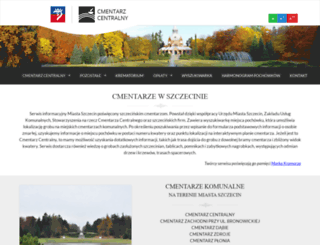 cmentarze.szczecin.pl screenshot