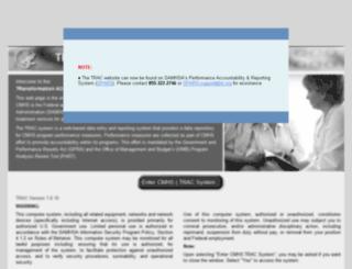 cmhs-gpra.samhsa.gov screenshot