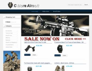 cmoreairsoft.com screenshot