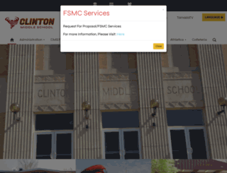 cms.clintonokschools.org screenshot