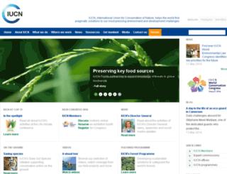 cms.iucn.org screenshot