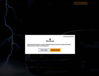 cms.maserati.com screenshot